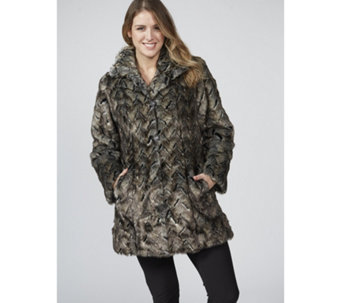 Dennis Basso Platinum Collection Faux Fur Coat - 169244