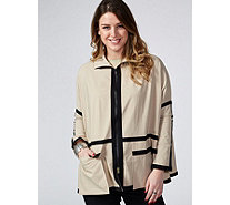 MarlaWynne Piped Bengaline Poncho Jacket - 171544