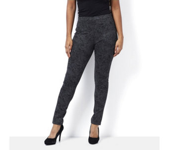 Mr Max Printed Straight Leg Pull On Ponte Legging - 162845