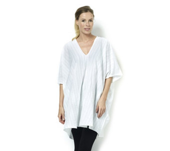 Join Clothes V Neck Dip Hem Cotton Tunic - 166545