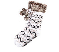 Muk Luks Faux Fur Cuffed Socks - 168046