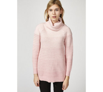 H by Halston Novelty Stitch Turtle Neck Jumper - 168746