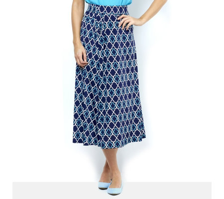 Olivia Tile Print Maxi Skirt by Onjenu London
