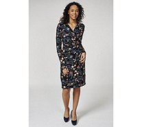 Joe Browns Long Sleeve Wrap Style V Neck Dress - 169947