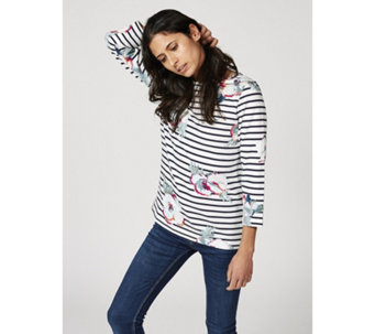 Joules Printed Harbour Top with 3/4 Sleeve - 170447