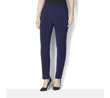 Straight Leg Jersey Trousers by Nina Leonard
