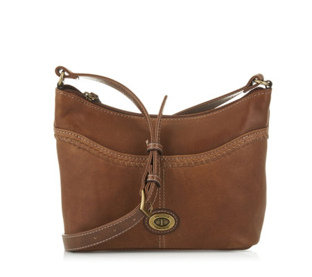 Tignanello Crosby Vintage Leather Crossbody Bag with RFID Protection