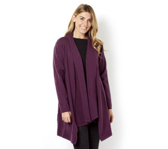 Knitted Patterned Placket Cardigan by Michele Hope - 160649