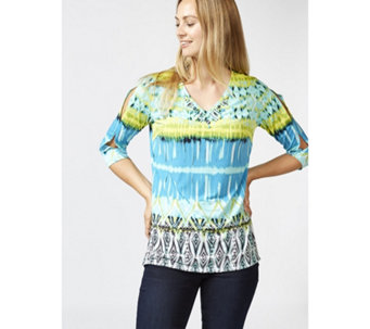 Artisan Printed Liquid Knit Tunic by Susan Graver - 165849
