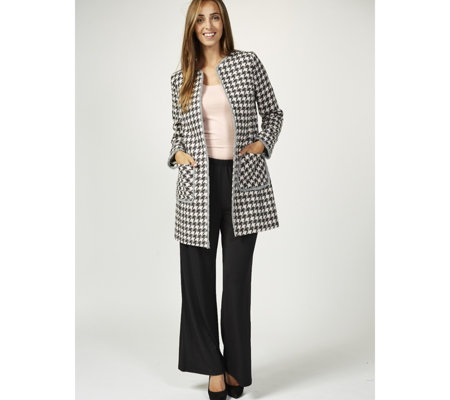 Helene Berman Textured Check Edge To Edge Jacket