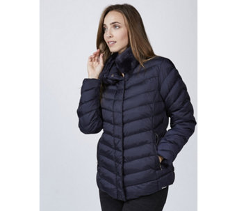 Rino & Pelle Faux Fur Neck Padded Jacket - 167249