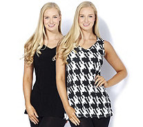 Grace Pack of 2 Sweetheart Neckline Tunics - 167649