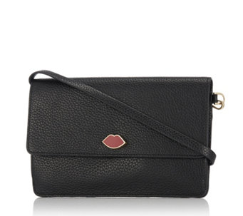 Lulu Guinness Faye Grainy Leather Handbag - 157850