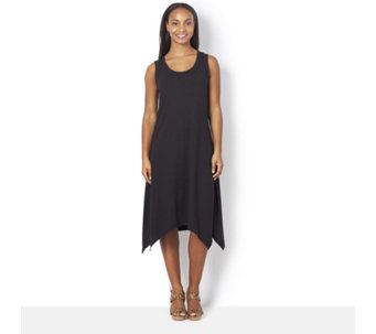 Cuddl Duds Super Soft Jersey Keyhole Detail Hanky Hem Dress - 162850