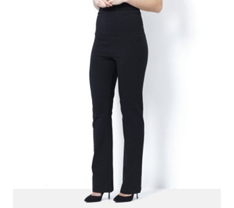 Women with Control Wide Waistband Boot Cut Trousers - 163150