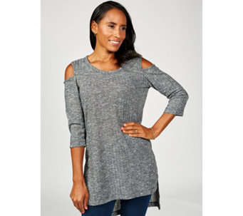 Christopher Fink Long Sleeve Cold Shoulder Tunic - 169050