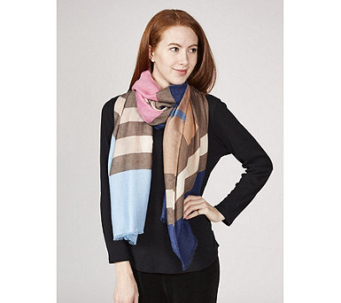 One Button Abstract Art Scarf - 171050