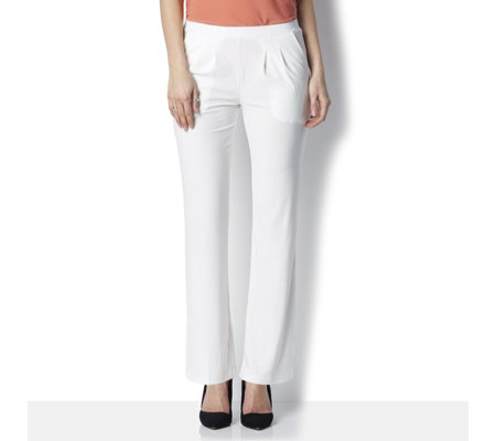 Basic Pull On Trousers with Pintuck Detail by Nina Leonard