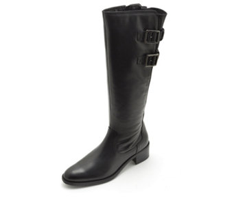 Clarks Valana Diem Knee Boots with Buckle Detail - 161551