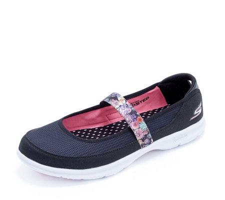 Skechers Go Step Floral Mary Jane Shoe With Goga Mat