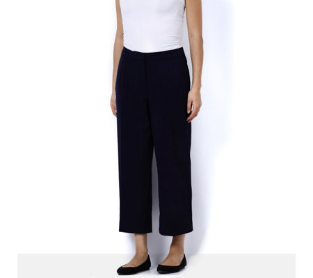 Chelsea Stretch Wide Leg Crop Trouser by Susan Graver