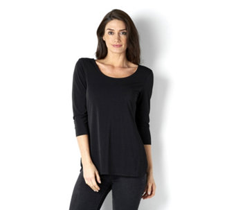 Attitudes by Renee Double Scoop Stretch Crepe Top - 163151