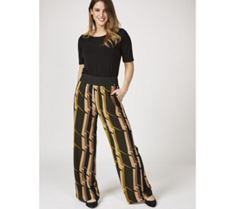 L'Officina della Moda Abstract Print Trousers - 169451