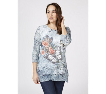 Joe Browns 3/4 Sleeve Sequin Butterfly Tunic - 169951