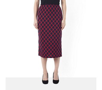 Kim & Co Brazil Knit Byzantine Pencil Skirt with Side Splits - 157252