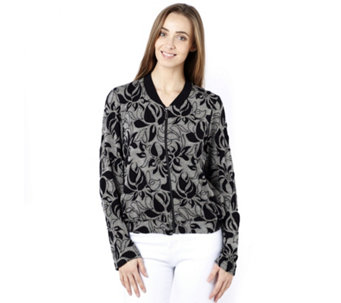 Betty & Co Abstract Floral Bomber Jacket - 163752