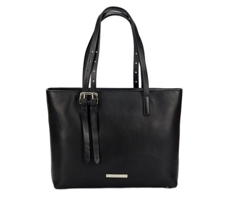 Amanda Wakeley The Dean Large Leather Tote Bag - QVC UK