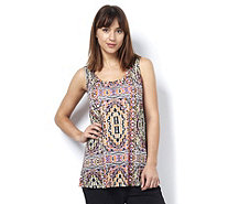 Fashion by Together Jersey Aztec Print Vest - 164553