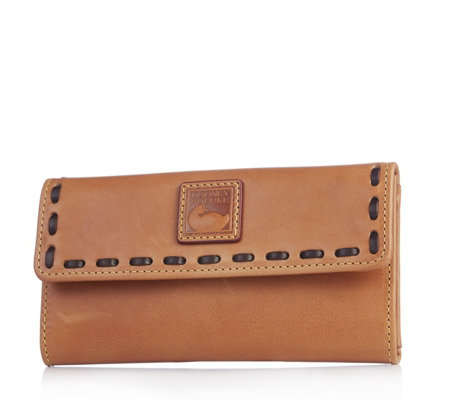 Dooney & Bourke Florentine Leather Flapover Continental Wallet