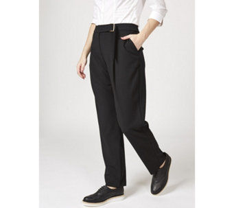 L'Officina della Moda Ring & Belt Detail Trousers - 169453