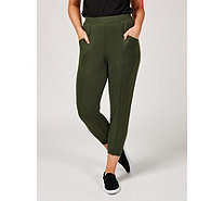 H by Halston Ankle Length Joggers with Seam Detail Regular - 172353