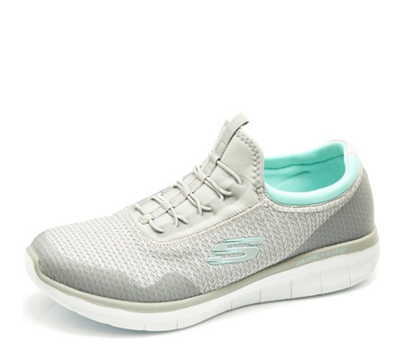 Skechers Synergy 2.0 Mirror Image High Apex Woven Mesh Slip On Trainer