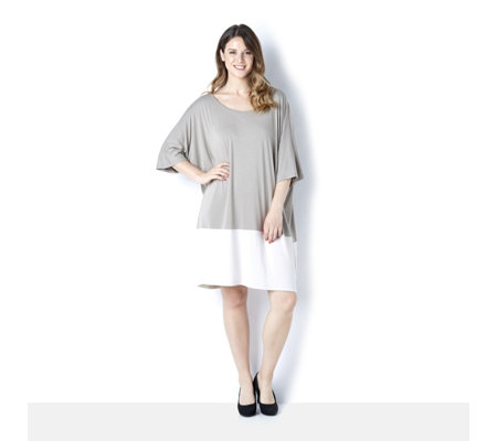 Join Clothes Colour Block Dress with Grow On Sleeve Detail