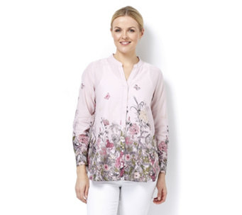 Fashion by Together Botanical Print Shirt - 164555