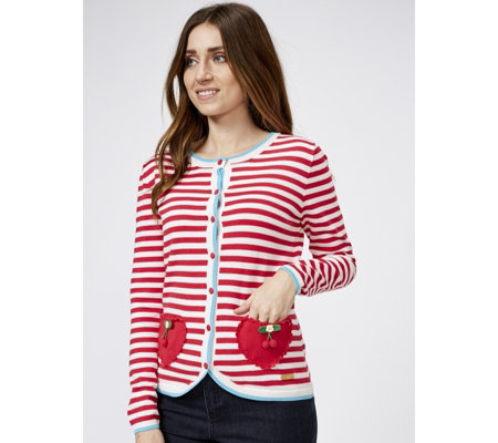 Joe Browns Cherry Stripe Cardigan