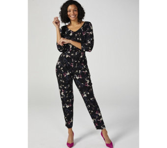 Kim & Co Brazil Knit 3/4 Sleeve Jumpsuit Regular - 169355