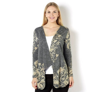 Artscapes Printed Edge to Edge Waterfall Cardigan - 160556