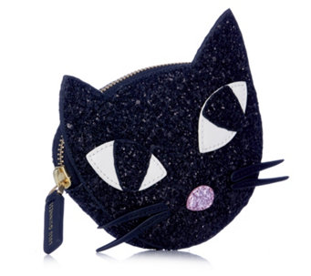 Lulu Guinness Kooky Cat Glitter Coin Purse - 160756