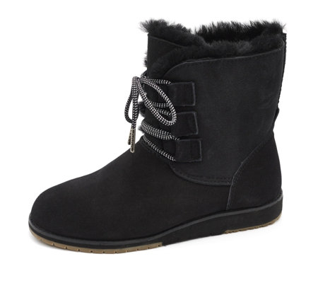 Emu Beach Collection Illawong Lace Up Sheepskin & Suede Boot