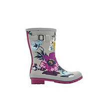 Joules Mid Height Printed Molly Wellly - 168956