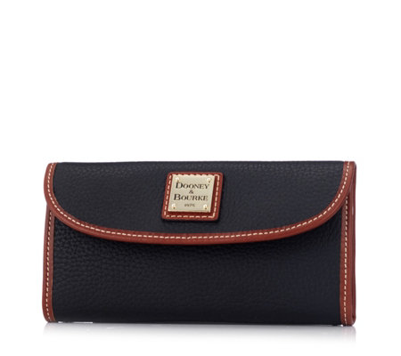 Dooney & Bourke Pebble Leather Continental Wallet
