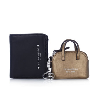 Tignanello Bi Fold Wallet with Dome Satchel Key Fob Boxed Gift Set - 161957