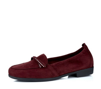 Vitaform Velvet Goat Loafer with Swarovski Crystal Trim - 162457