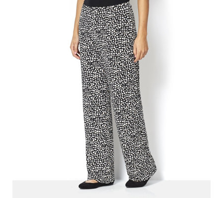Deco Printed Straight Leg Trousers by Michele Hope