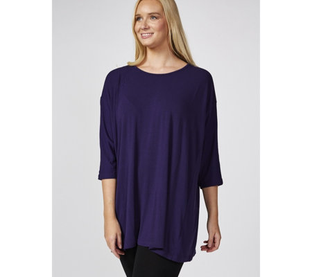 Join Clothes Dolman Sleeve Round Neck Tunic