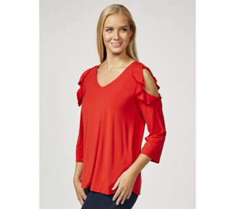 Together Cold Shoulder Frill Detail Top - 169857